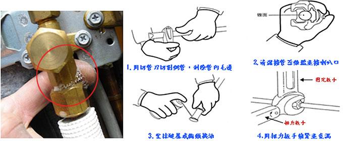 室外機高壓接頭配管時應注意,以免造成冷房能力下降,而冷氣不冷