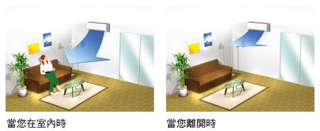 變頻空調E系列壁掛型,搭載創新智慧眼科技帶來舒適省電的空調環境